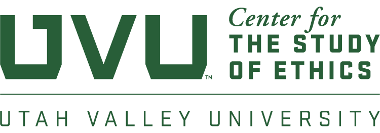 A logo of the UVU Center for the Study of Ethics